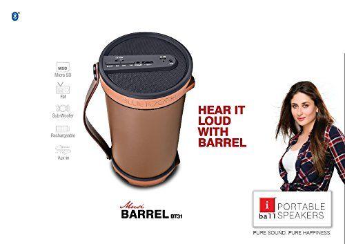 iBall Music Barrel BT31 Re-Defining Portable Speaker With FM Radio