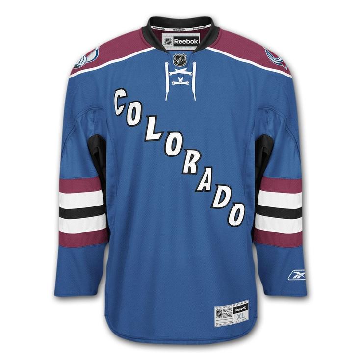 Colorado Avalanche Reebok Premier Youth Replica Alternate