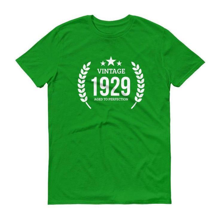 Men's Vintage 1929 Aged to perfection T-shirt - 1929 birthday gift ideas - 88 Birthday #birthdaygifts