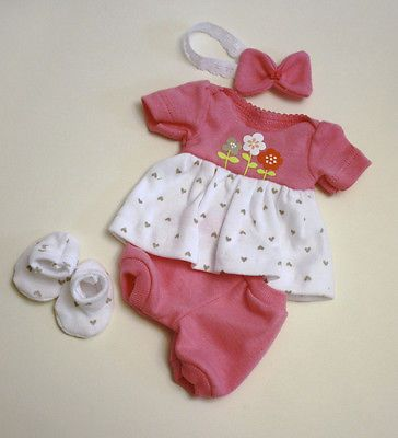 Sculpted OOAK Baby Doll Clothes Dress Bloomers Tiny