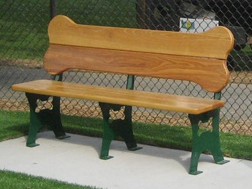 Beautifully handcrafted, our dog bone benches are a cute addition to Pet Friendly Hotels, Veterinary Facilities, Dog Parks and even backyards! The benches are m
