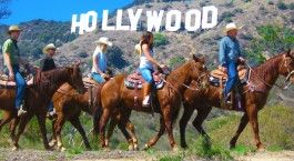 Sunset Ranch Hollywood - horseback rides to the top of Mt Hollywood which gives you an amazing view of all of LA down to the sea including the infamous Hollywood sign