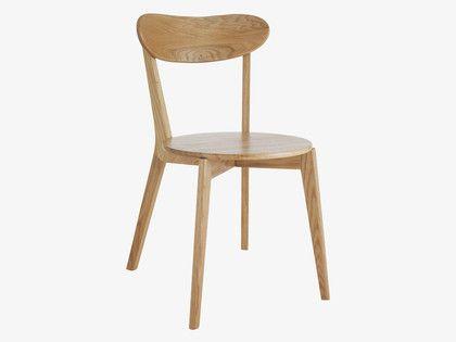 SOPHIE NATURAL Wood Oak dining chair - HabitatUK