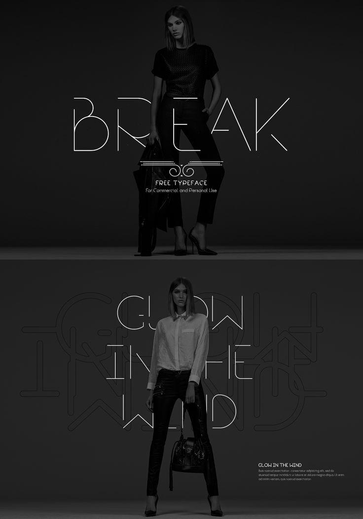 Break | Free Font on Behance