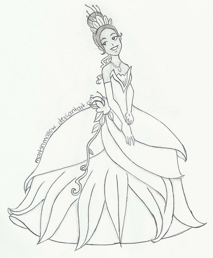 Princess Tiana Coloring: Tiana And Naveen Coloring Pages