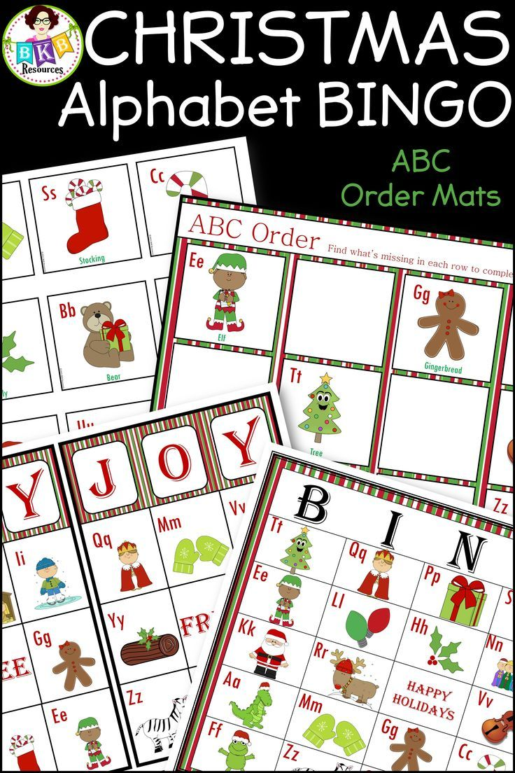 Who doesn't like playing Christmas BINGO? This is so much fun to play with students and a great way to build on their letter recognition skills. Full page and half page BINGO boards are included plus 4 ABC order mats to use with the BINGO calling cards. CLICK NOW to view. #BINGO #games #letter #Alphabet #christmas