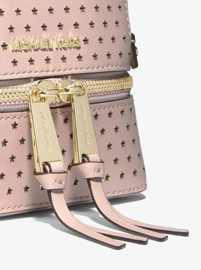 ae4aa557ee2e MICHAEL Michael Kors Rhea Mini Perforated Leather Backpack ...
