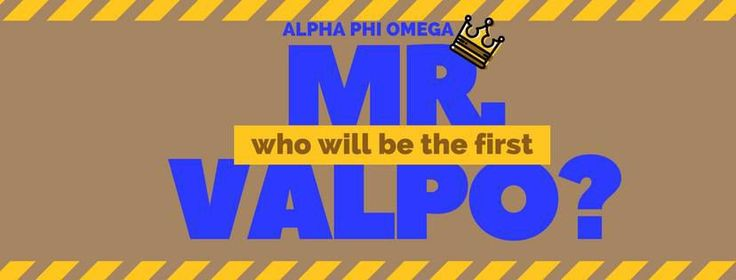 Alpha Phi Omega is hosting their first ever Mr. Valpo contest, which will pin men from various organizations on campus against each other to win money for their selected philanthropy.