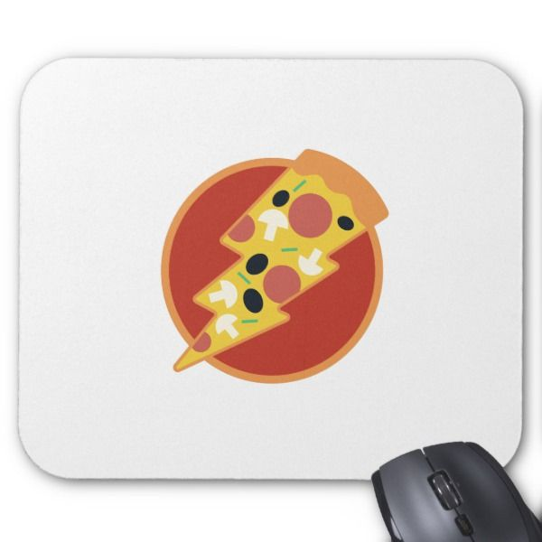 Flash Pizza Mouse Pad Custom office supplies #business #logo #branding