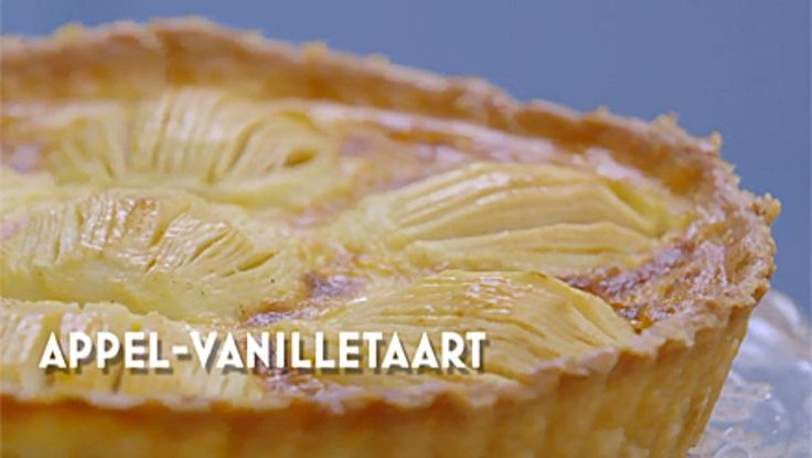 Appel-vanille taart - Heel Holland Bakt
