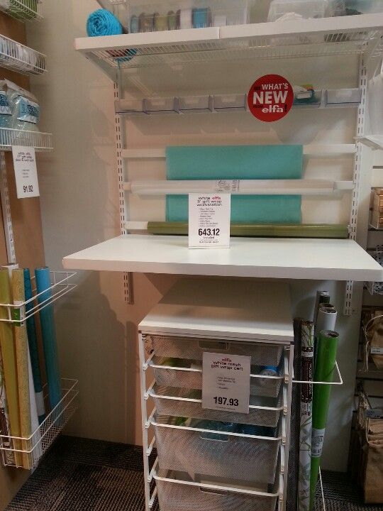 I Want This Elfa Gift Wrap Organizer From The Container
