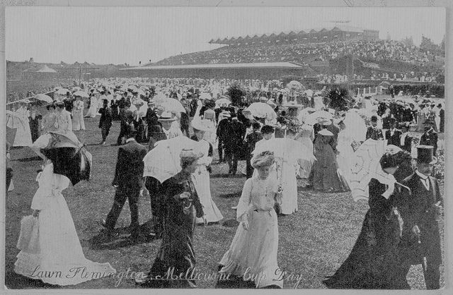 Flemington Melbourne Cup Victoria c. 1906 (Property of State Library Victoria)