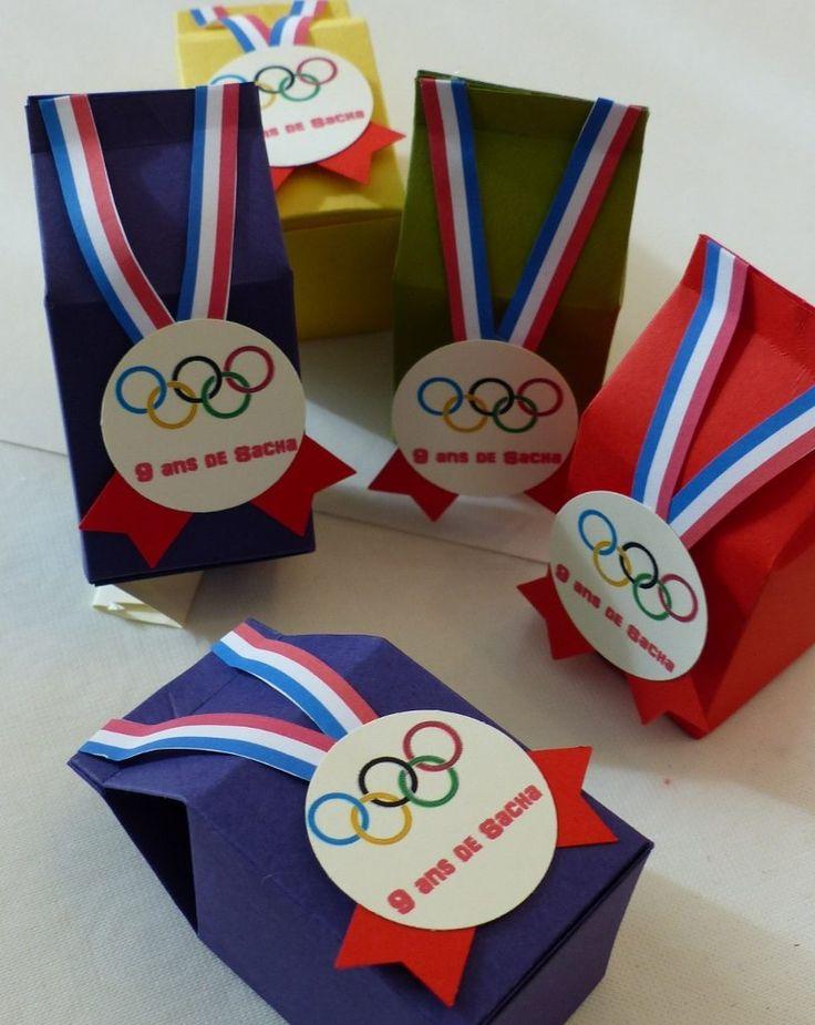Boîtes de bonbons pour anniversaire Olympique !