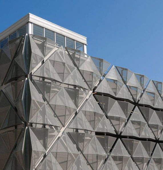 Aluminum Building Facade : Best images about metall mesh buildings on pinterest