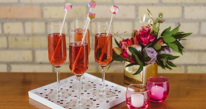 Faceted Drink Stirrers Party Animal Pinterest Confetti Tutorials And Stir Sticks