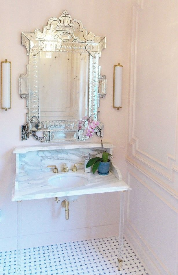 Pink Bathrooms Transitional Bathroom Farrow And Ball Ground Christine Dovey