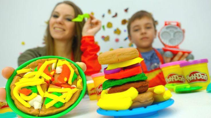 Новое видео Дети и Родители: Игры для детей Плей До (Play-Doh). Набор Пи...