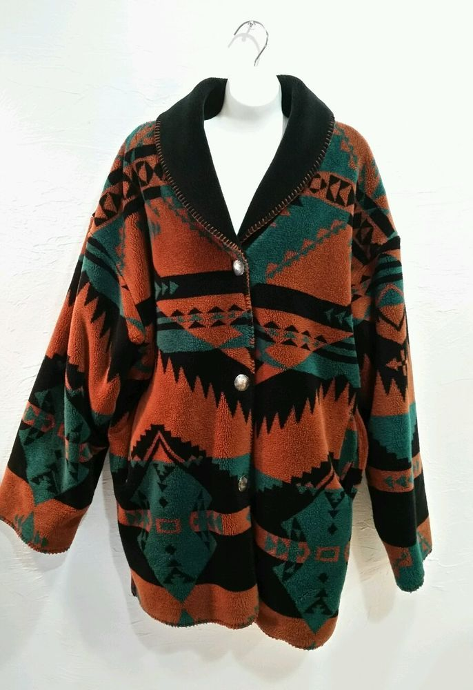Vintage Reversible Southwestern Windbreaker Coat