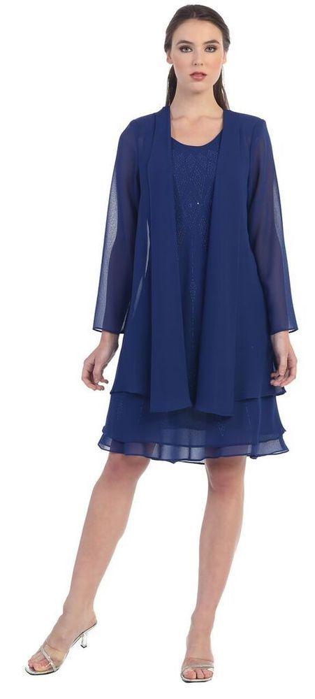 Wedding Event Dress /Jacket Mother of Bride/Groom Short Formal Gown Bridesmaids  #Dress