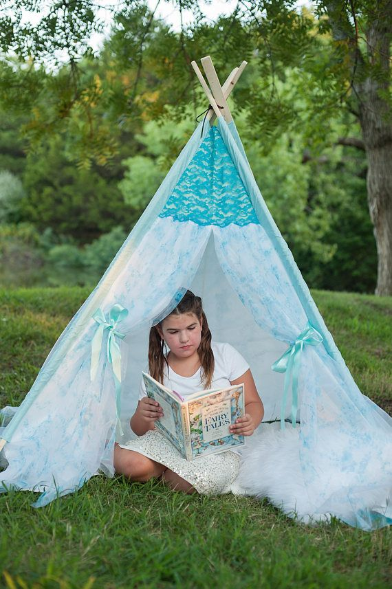 Turquoise floral teepee Bender Bee Company