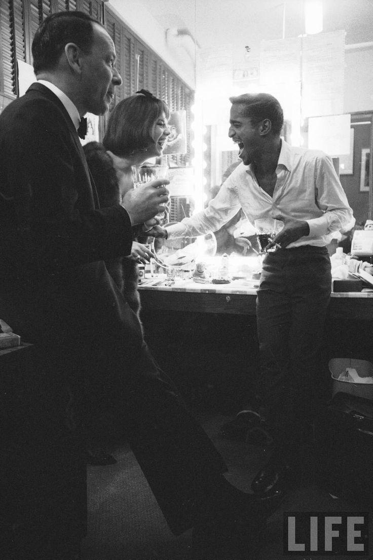 Frank Sinatra, Natalie Wood and Sammy Davis Jr.