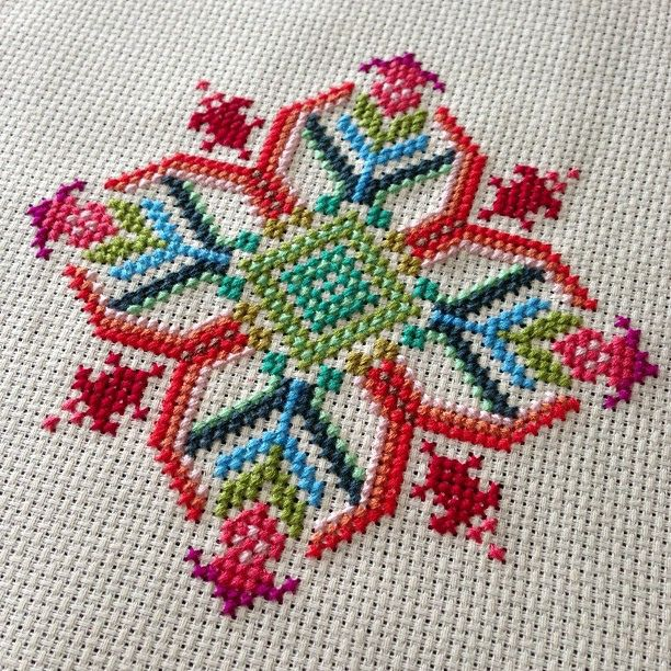 Finished! Pattern from @annamariahorners new needleworks book :), via Flickr.