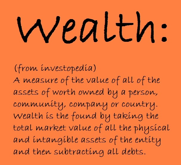 the real definition of wealth Wealth this is a word that's often used, but also often misunderstood in make  money, live wealthy, the entire theme of the book is: what true wealth is, and.