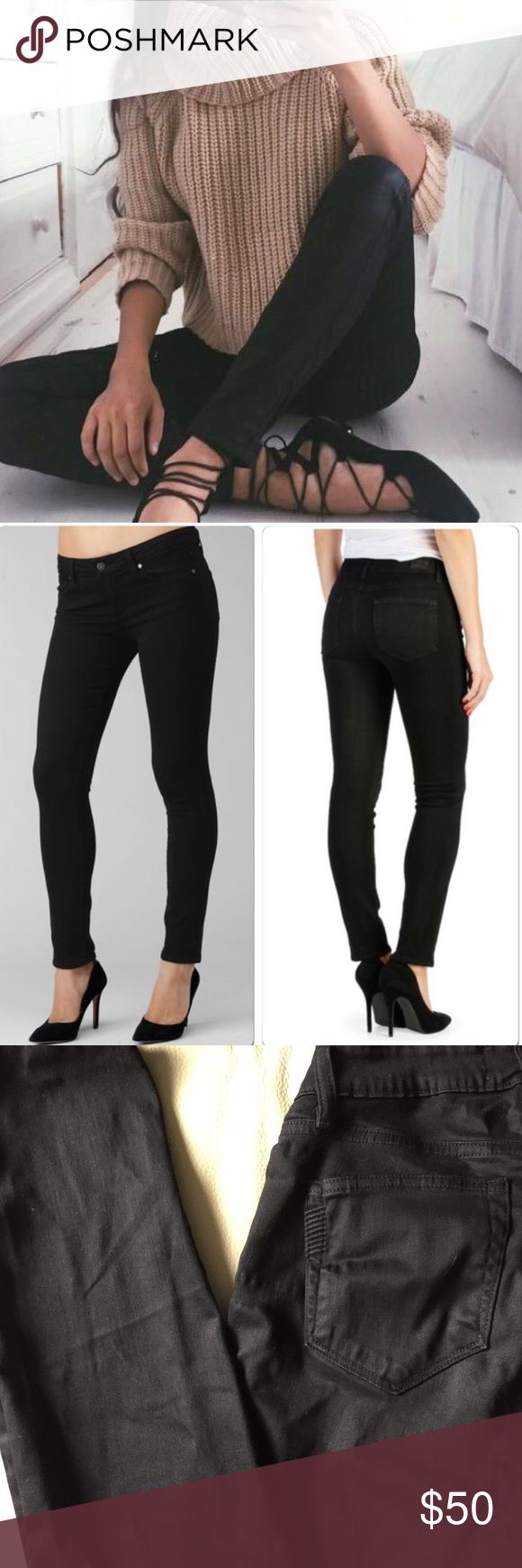 💕Paige Premium Denim💕Black Slim Skinny Jeans💕 EEUC, black skinny jeans by Paige Premium Denim. Purchased at Nordstrom's and worn a handful of times for work/going out! Love these jeans but slightly too big for me. Soft velveteen black denim material.                                   ✅Brand: Paige Premium Denim                          ✅Size: 25                                                                   ✅Style: Verdugo Ultra Skinny Paige Jeans Jeans Skinny