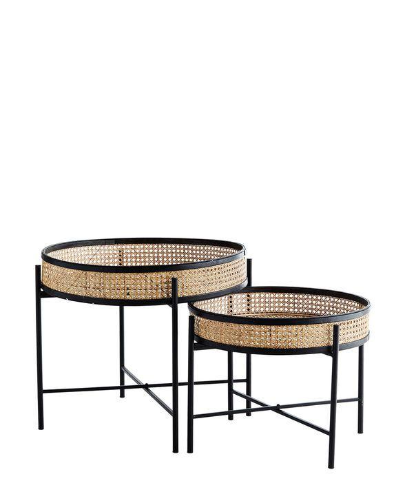 Storefactory Kerzenhalter Lidatorp Beige Beistelltische Set Rattan Beistelltisch Beistelltisch