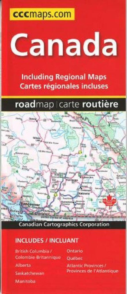 buy map canada road map by canadian cartographics corporation yellowmaps map store