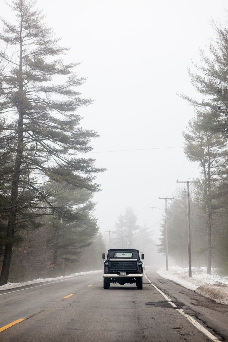 Cold and foggy drive