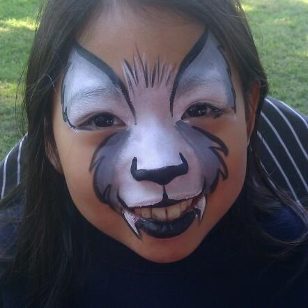 wolf face paint cake ideas and designs - Halloween Easy Face Painting