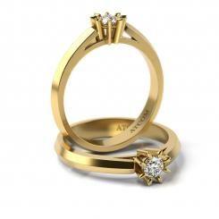 Inel de logodna din aur galben cu diamant Cristian