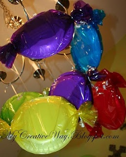 Some of the candy decorations hanging. My Creative Way: Candyland Party - Photo 3