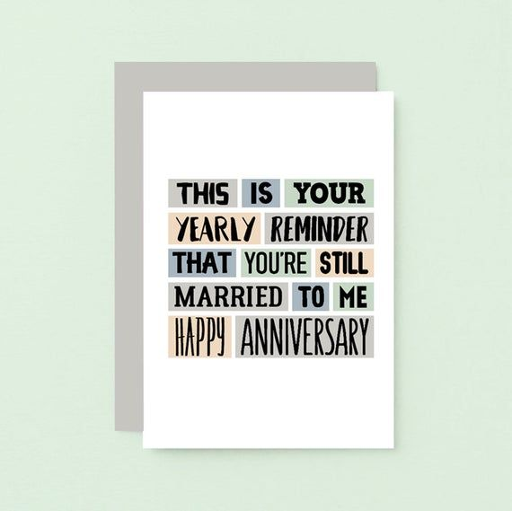 Funny Anniversary Card For Husband Wedding Anniversary Card Etsy In 2021 Funny Anniversary Cards Anniversary Funny Anniversary Cards For Wife