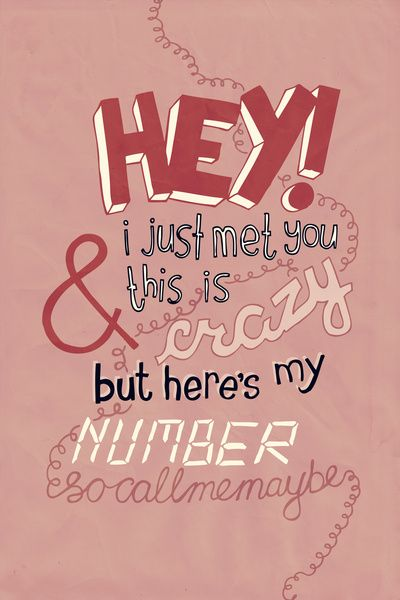 ♫ Carly Rae Jepsen - Call Me Maybe ♪