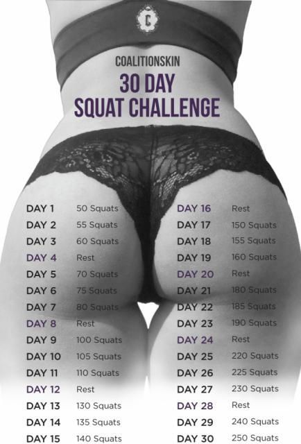 Get That Booty/30 Day Squat Challenge                                                                                                                                                                                 More