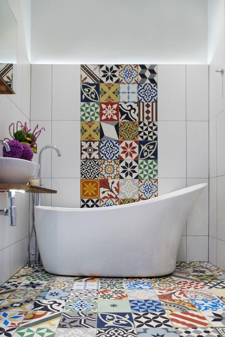 Bunte Fliesenaufkleber Fur Bad Badezimmergestaltung Badezimmer Fliesen Badezimmer Trends
