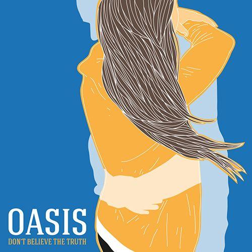 Oasis - Don't Believe The Truth - All content copyright 2016, Federico Gastaldi. All rights reserved. illustration, music, cover, album, conceptual, graphic, design, love, couple, hug Federico Gastaldi, Salzmanart.com