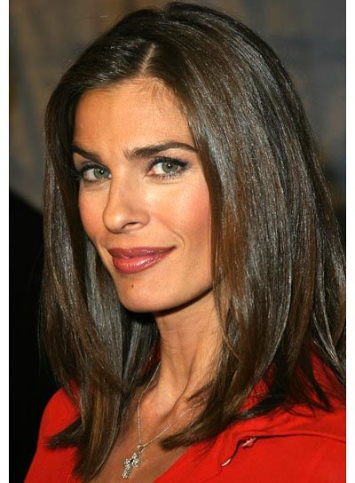 pinterest long hairstyles for fine thin hair | Kristian Alfonso's style is perfect for medium-length, straight hair ...