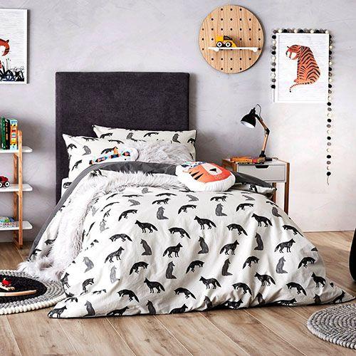 Fox Flanelette Bedlinen Quilt Cover Set