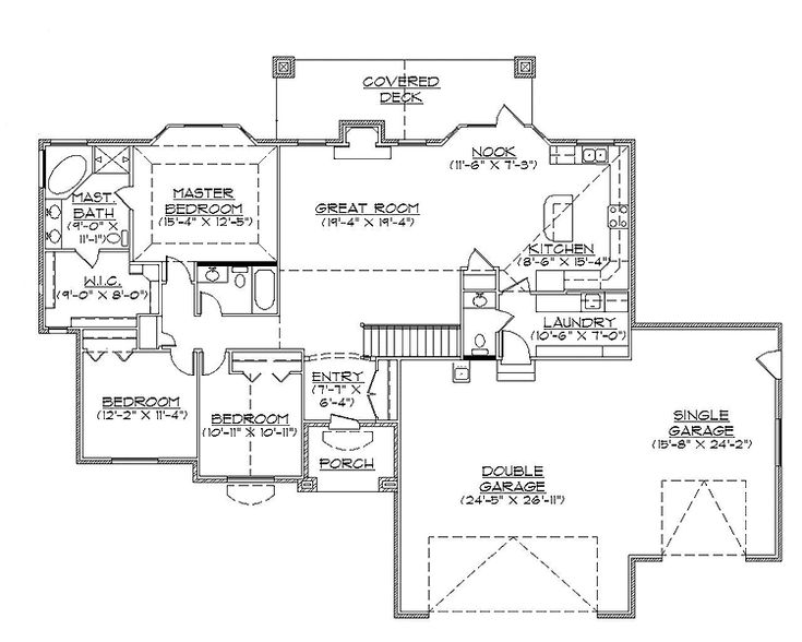Best 20 rambler house plans ideas on pinterest ranch Two bedroom house plans with basement