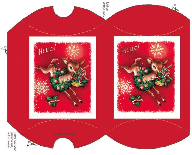 Free Xmas Craft Printables Boxes