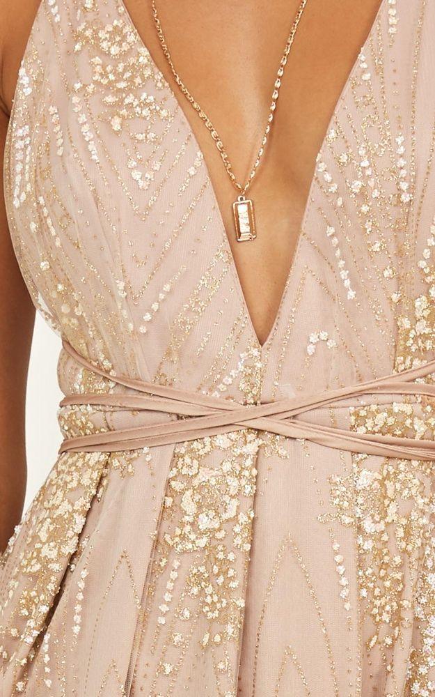 2566c84f43 New York Nights Maxi Dress In Gold in 2019 | ringdance | Designer ...