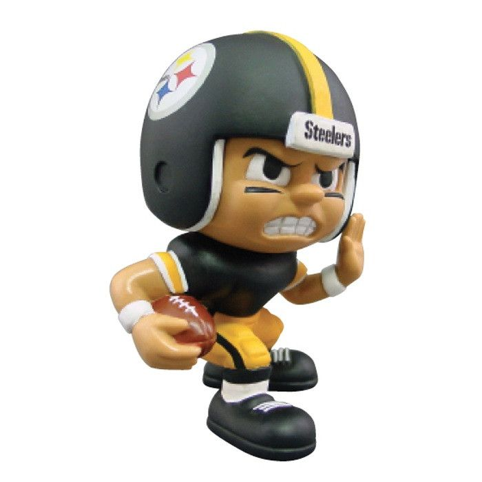"""Lil Teammates Series Pittsburgh Steelers Running Back Figurine (Edition 3)  - Catch the fever of the hot new toy collectible craze with these poseable 3"""" vinyl team figures, available in various positions, series and uniform combinations. These little guys, dressed in the uniforms of your favorite teams, are tall and feature very animated faces and rotating heads. Collect all the positions and teams. 3 inches tall Rotating heads Officially licensed Series Collectible NFL License: Pittsburgh…"""