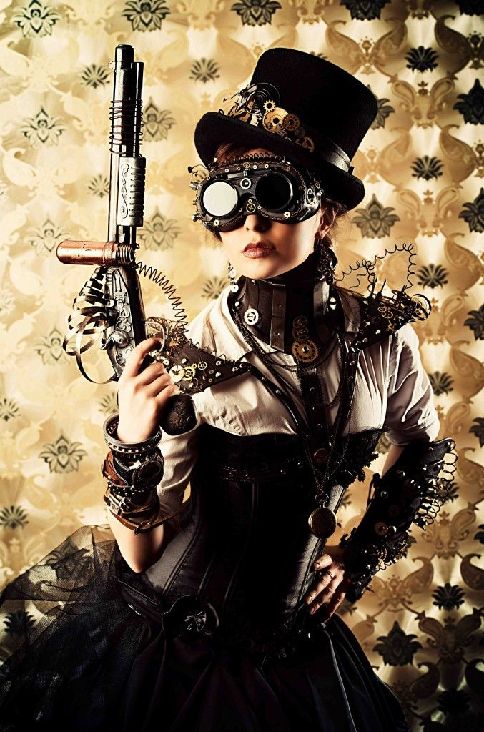 Steampunk outfit goggles and guns #steamPUNK ☮k☮