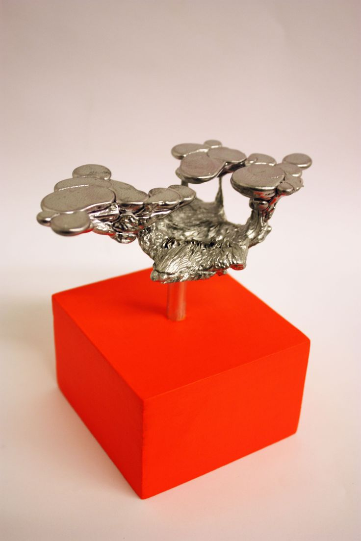 Hanna Makkonen, A new trophy! (Mushroomcloudforest), 11 x 12 x 8, Sculpture (mixed media)