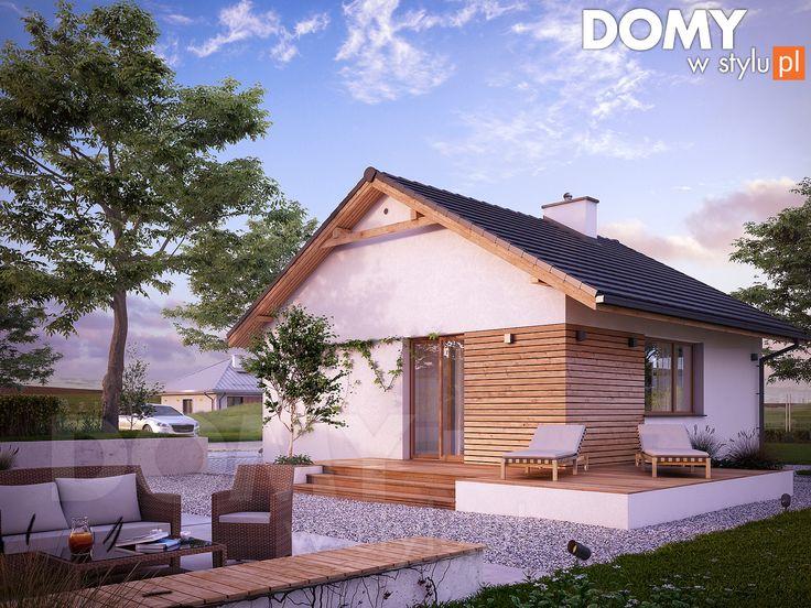 Imbir 4 (50 m2) - mały projekt domu. Pełna prezentacja projektu dostępna jest na stronie: https://www.domywstylu.pl/projekt-domu-imbir_4.php #imbir #domywstylu #mtmstyl #projekty #projektygotowe #domynowoczesne #projekt parterowy #domparterowy #dom #domy #projekt #projektydomów #projektydomow #budowadomu #budujemydom #design #newdesign #home #houses