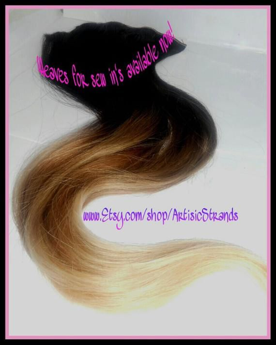 OMBRE Colored Hair Extensions / 100 grams of Weft / Sew in Weft Tracks / Dyed Ombre / Tips Dyed / Dip Dyed / Remy Hair