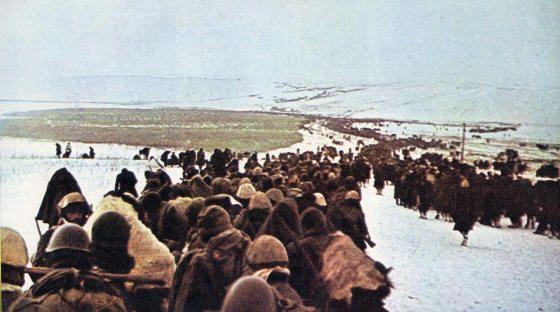 Ritirata di Russuia del Corpo d'Armata Alpino 17/1/43 - 29/1/43 - La colonna nella steppa
